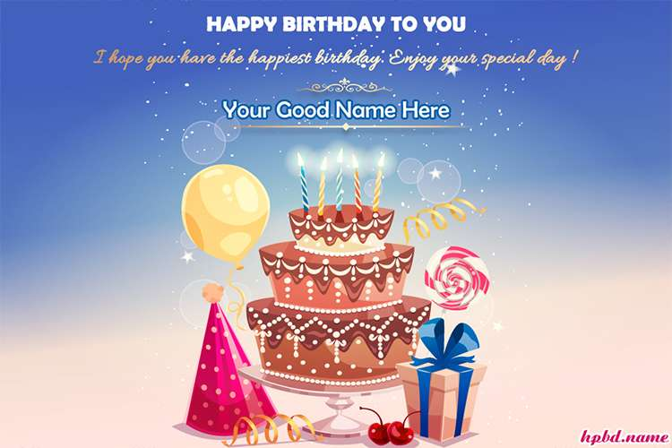 Latest Happy Birthday Wishes Card With Name