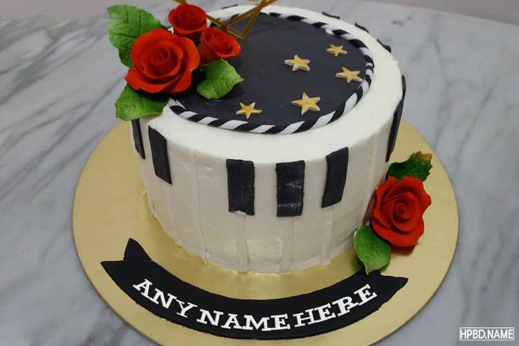 Lovely Rose Happy Birthday Cake With Name Wishes