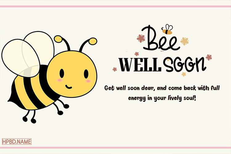 Bee Well Soon Greeting Card Online Free