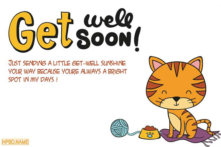 Get Well Soon Cards With Lovely Cats