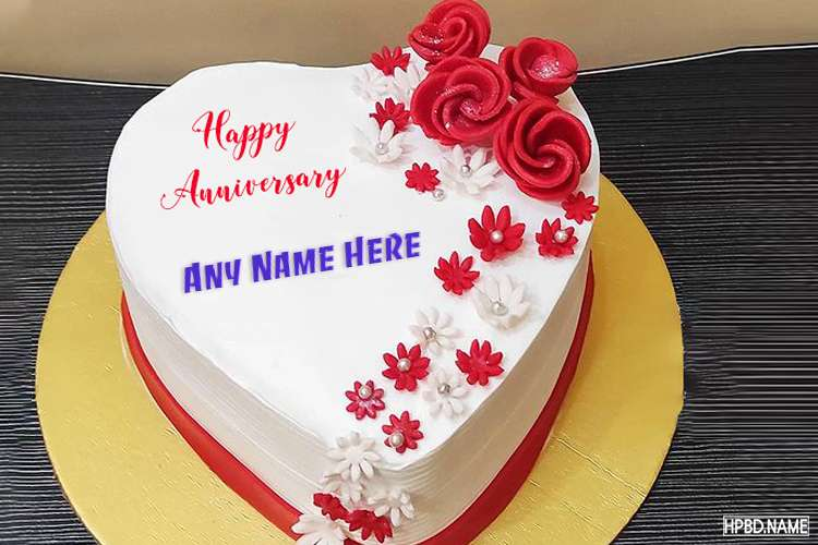 Happy Anniversary Wishes Cake With Name Online