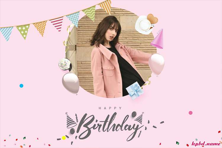 Lovely Pink Birthday Wishes Cards With Photo