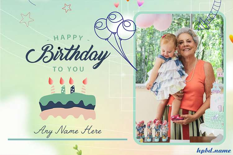 Green Birthday Wishes for Boys With Photo Edit