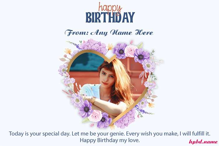 Happy Birthday Wishes For Lovers With Photo
