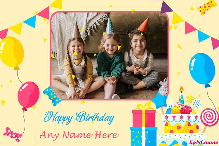 Personalized Your Own Birthday Card With Photo