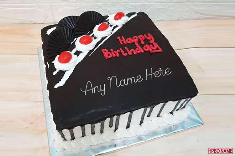 Chocolate Birthday Wishes Cake With Name Editing