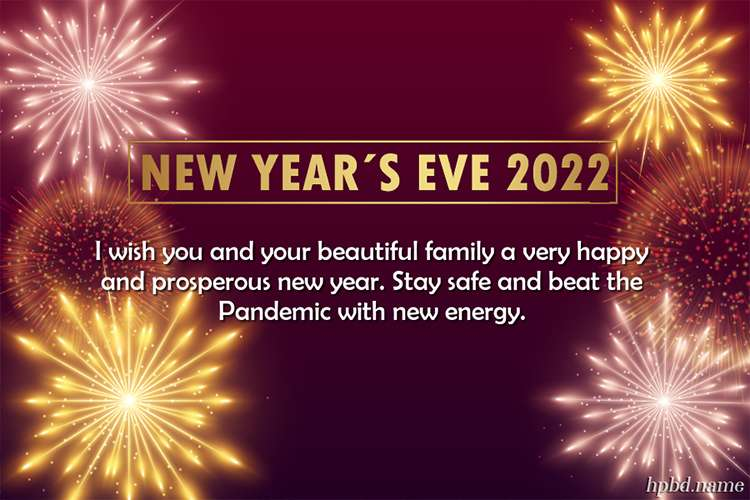 Fireworks New Year's Eve 2022 Greeting Wishes Card Images