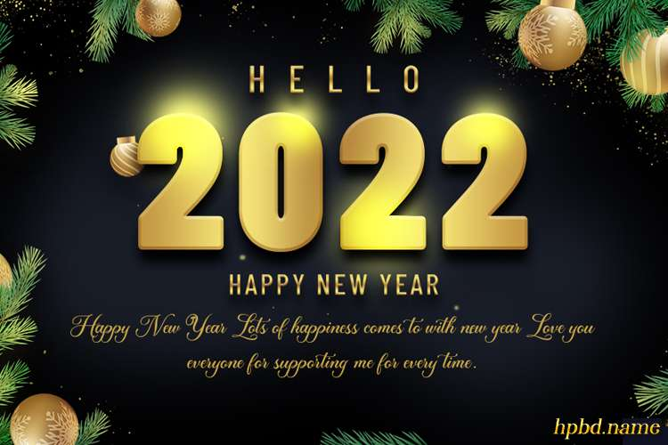 Free Happy New Year 2022 Card Images Download