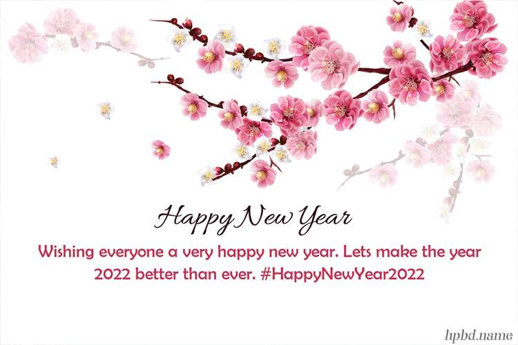 Flowers New Year's 2022 Card Maker