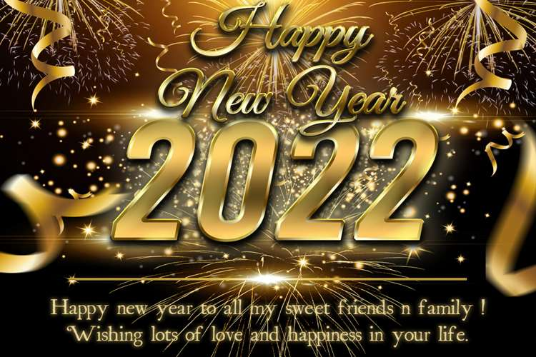 Make Luxury Happy New Year 2022 Card Images