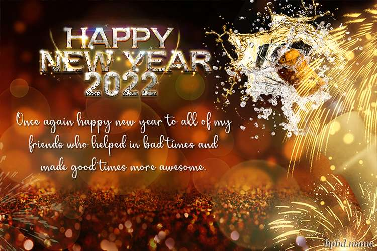 Latest Sparkle Meaningful 2022 New Year Greeting Card