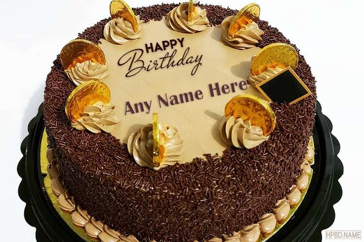 Giving You Black Forest Chocolate Birthday Cake With Your Name
