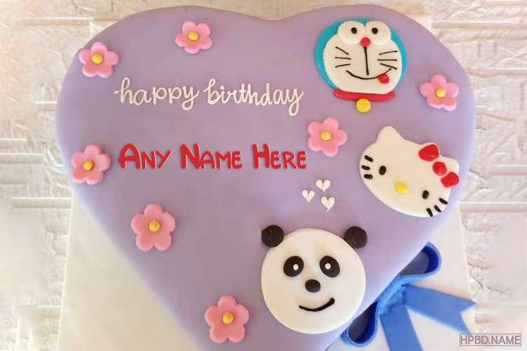 Free Cartoon Baby Birthday Cake With Name