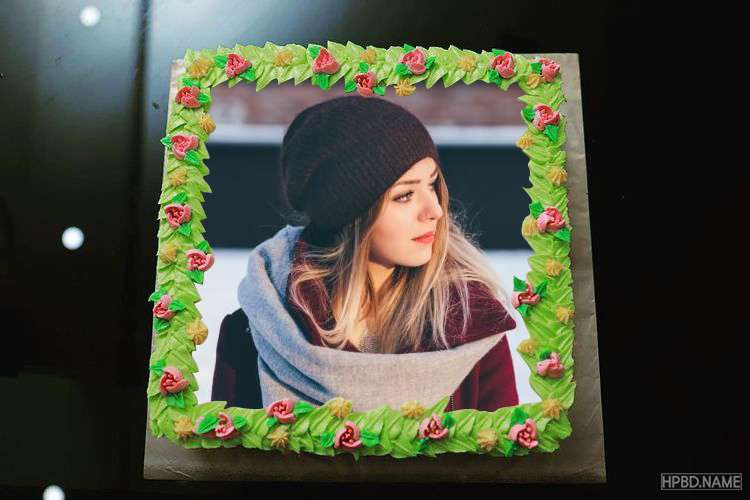 Create Flower Garden Birthday Cake With Photo
