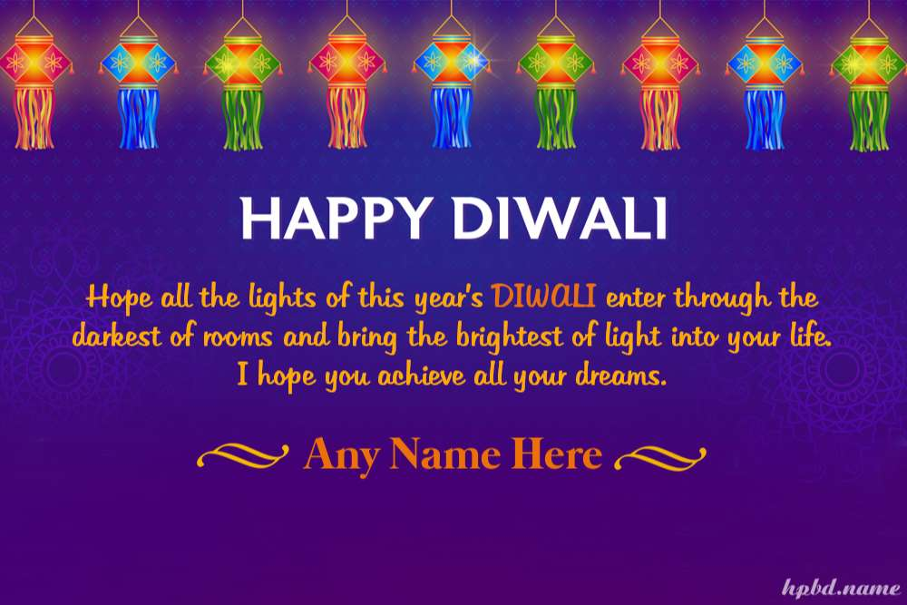 Customize Diwali Greeting Cards With Name Online Editing
