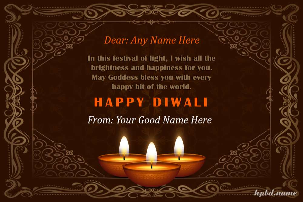 Customize Your Own Diwali Greeting Card With Name