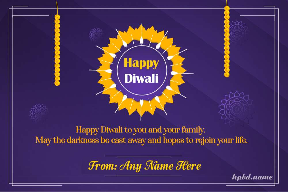 Happy Diwali Wishes Quotes Images With Name Edit