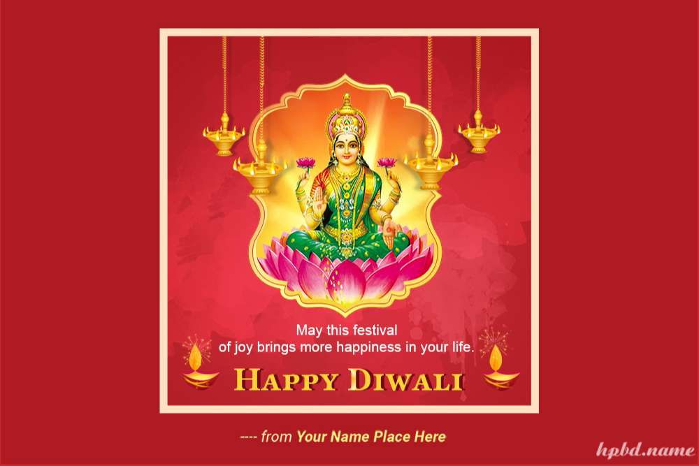 Gorgeous Happy Diwali Card With Name Generator