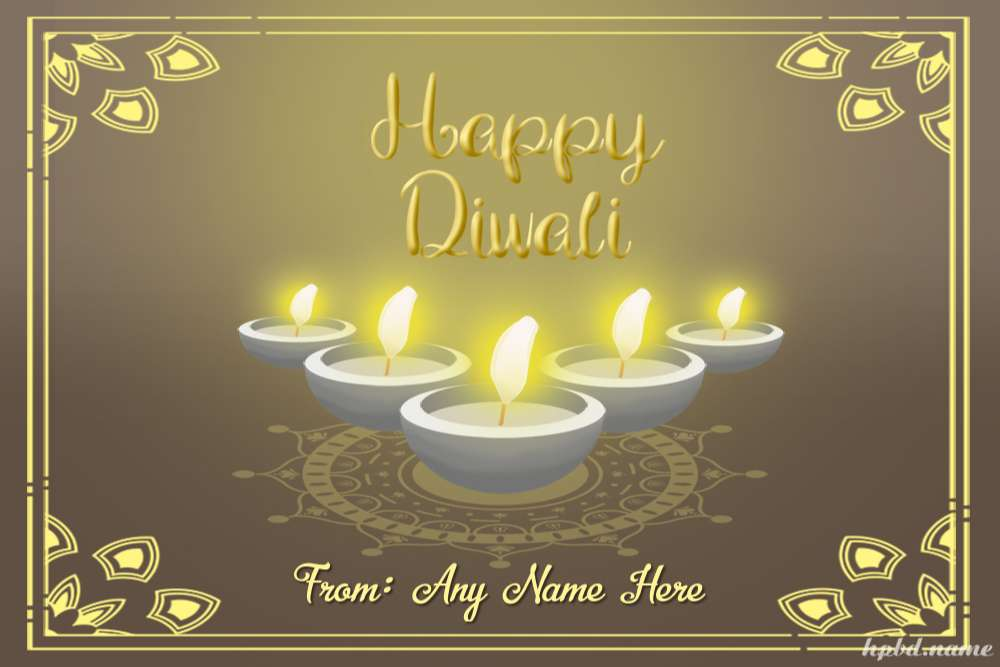 Wish You Happy Diwali With Name