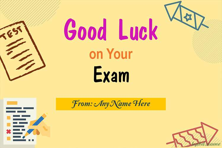 Good Luck On Your Exam Cards With Name Generator (Free)