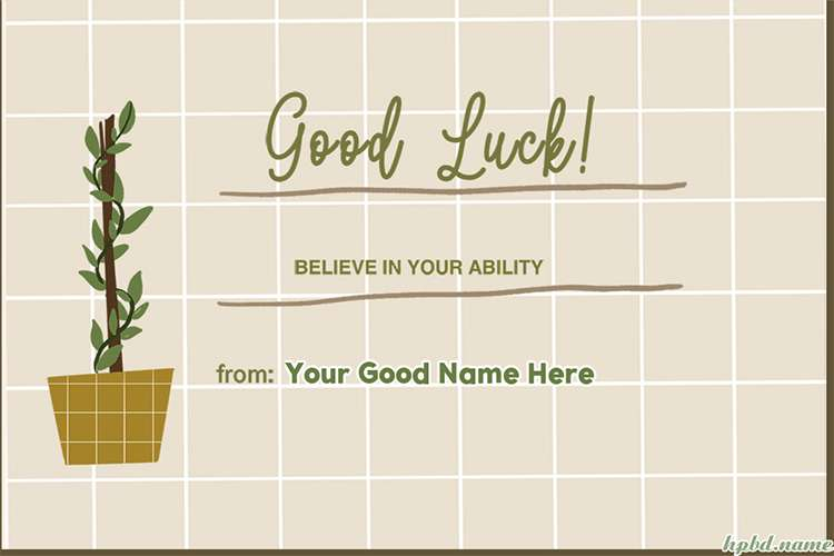 Believe In Your Abilities Card With Name Edit