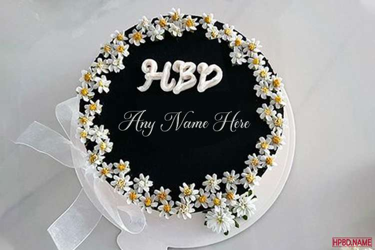 Write Your Name On Chrysanthemum Cake Happy Birthday