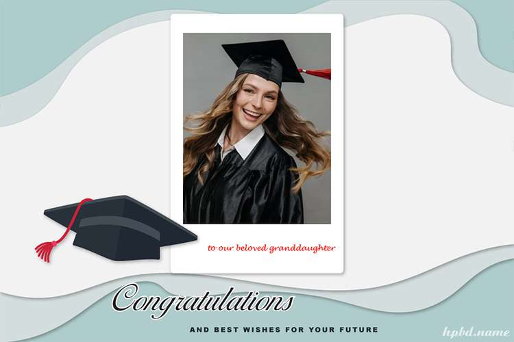 Congratulation On Your Graduation Card With Name And Photo
