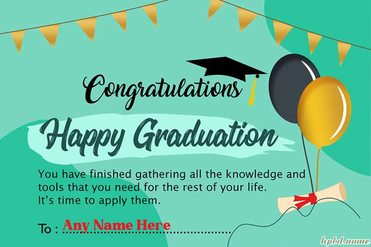 Customize Your Own Graduation Greeting Card With Your Name
