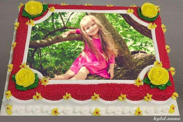 Customize Beautiful Textured Birthday Cake With Photo