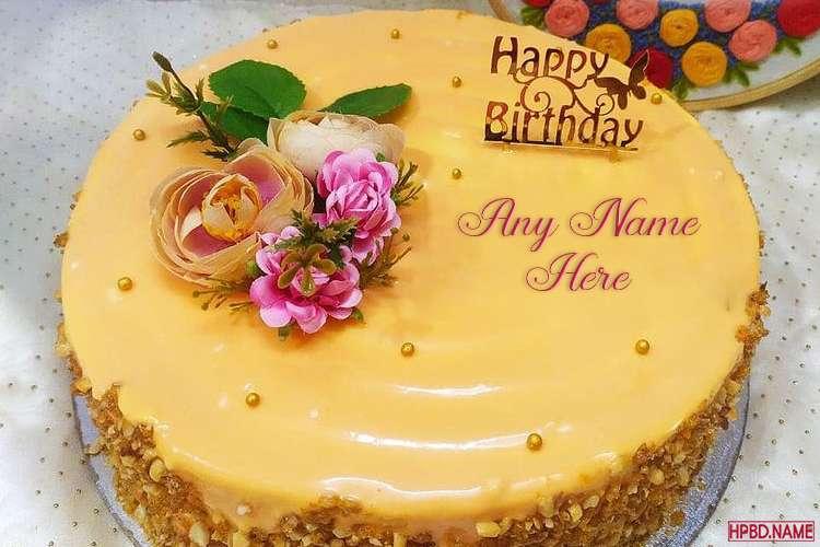 Mango Flavored Birthday Cake With Name Editing